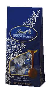 4126- LINDOR Truffles Dark Chocolate 19 oz. Bag