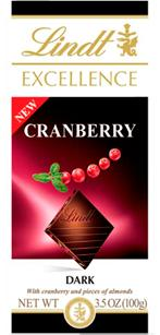 Lindt Excellence Intense Cranberry chocolate bar
